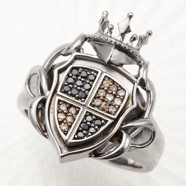 リング メンズ 指輪 シルバー925 王冠 盾 ストーン 紋章 つた シルバーアクセサリー 送料無料