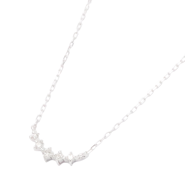 送料無料 ネックレス ペンダント レディース ダイヤモンド 5石 K10ホワイトゴールド 販売期間限定セール プレゼント 春夏 大人気