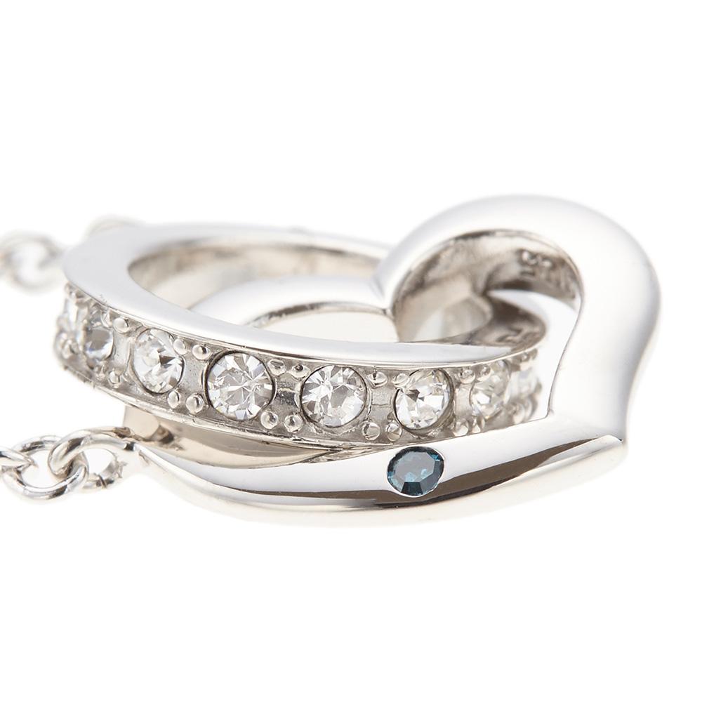8edff30d884842 ... 幸せを呼ぶブルーダイアモンドのリングペアネックレスシルバ-925製キュービックジルコニアオープン ...