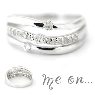 me on... 送料無料本物の輝きが導く美しさK10ダイヤモンドリング お届けまで2~3週間程度 プレゼント 春夏