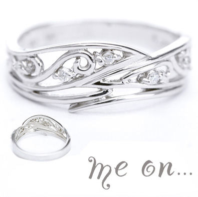 me on... 送料無料K10ホワイトゴールドダイヤモンドリング お届けまで2~3週間程度 プレゼント 春夏 大人気