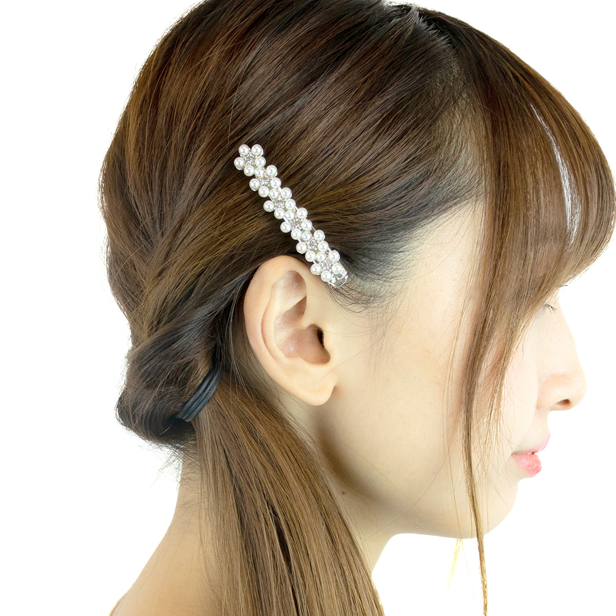 STUNNING RHINESTONE CZECH FLOWER NEW WOMAN BARRETTE CLIP HAIR CLIPS SLIDES
