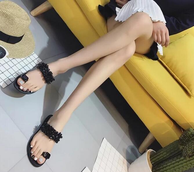 ストーンビジューサンダル ビーチサンダル 靴レディース