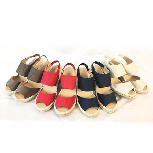 ウェッジサンダル 靴 レディース カラバリ豊富 ヒール ベルト