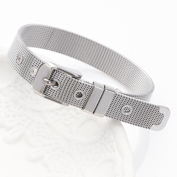 手镯不锈钢制造皮带手镯不锈钢电线制造包含闪闪发光的女子的尺寸能调节,好像作为钟表的皮带可爱