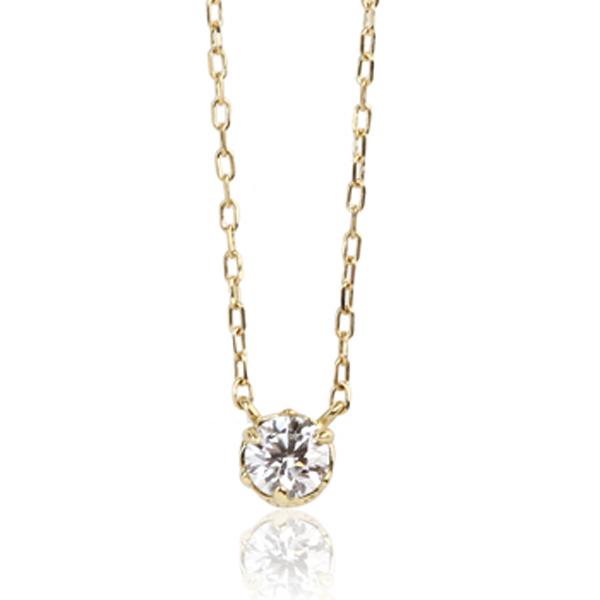 ネックレス ペンダント me.luxe クラシカルダイヤモンドネックレス K18 キュート シンプル デイリー オシャレ 毎日使い 重ね使い レディース 送料無料