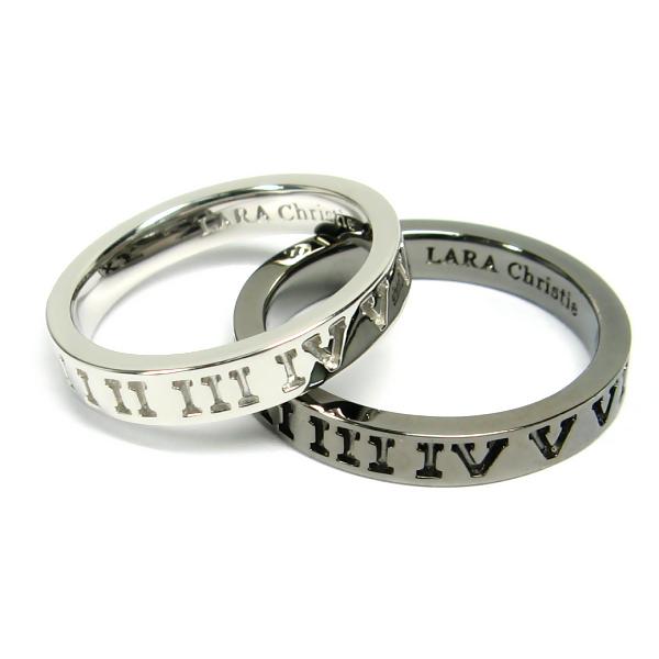 リング 男女ペア LARA Christie ララ クリスティー オルロージュ 指輪 ペアレーベル お揃い カップル ララクリスティ 送料無料 シルバー925 プラチナコーティング