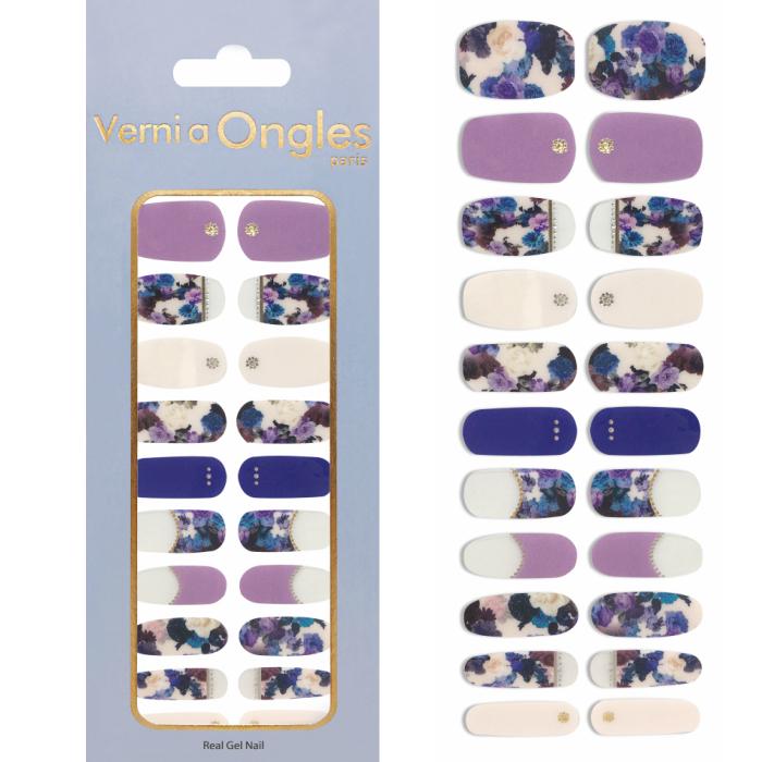 ジェルネイルの鮮明な発色で簡単貼るだけジェルネイル Verni a Ongles 購買 ヴェルニア V-11 ステッカー 超激安 ジェルネイル オングルス