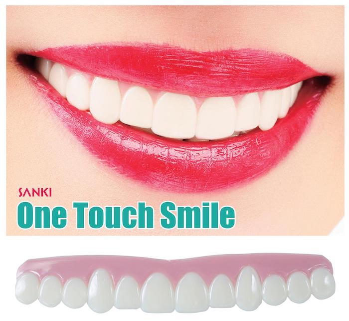 サッと歯につけるだけ 極薄約2mmの簡単ワンタッチつけ歯 販売 日本未発売 極薄ワンタッチつけ歯 ワンタッチスマイル
