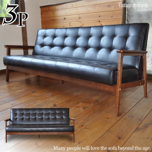 Take three sofas, and take three sofa nostalgic antiques; a sofa  leather-like cafe furniture by cast processing cafe windblown tree elbow  sofa retro ...