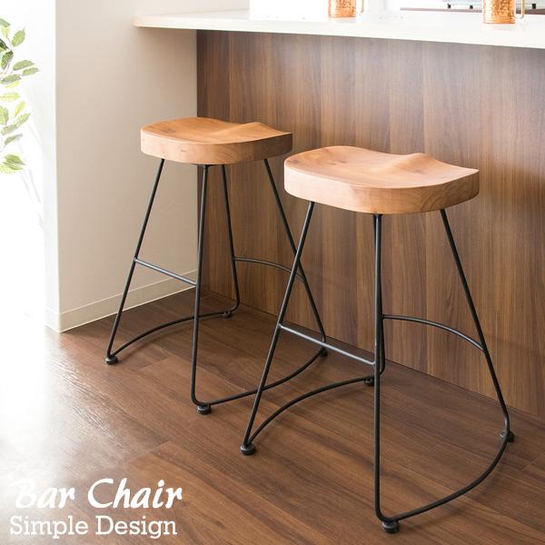 バーチェア チェア カウンターチェア 北欧 アイアン ヴィンテージ カフェチェア スツール いす イス 椅子 おしゃれ BAR 木製スツール 天然木 スチール バースツール カウンタースツール 新生活