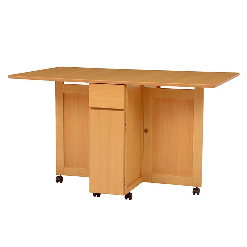 【送料無料】バタフライテーブル VDT-7955NA (約)幅125(32)×奥行80×高さ72cm ■ナチュラル | 家具 おしゃれ インテリア 机