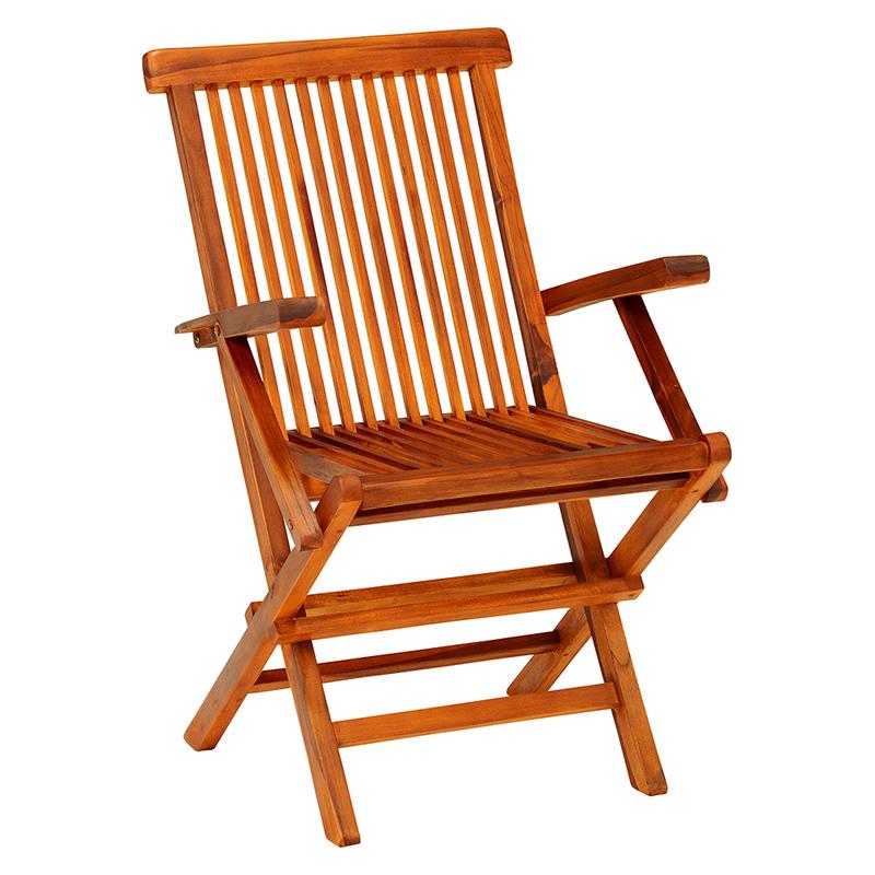 SALENEW大人気! 天然木のチーク材を使用したシンプルなチェア 折りたたみ式なのでシーズンオフの収納にも困りません 送料無料 アームチェア RC-1591TK 約 幅54×奥行60×高さ90×座面高45cm おしゃれ インテリア 家具 ガーデンチェア 激安通販ショッピング ■2セット 椅子