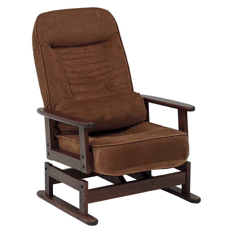 【送料無料】高座椅子 LZ-4742BR (約)幅62×奥行62~99×高さ46~93×座面高35/38cm ■ブラウン | 家具 おしゃれ インテリア チェア