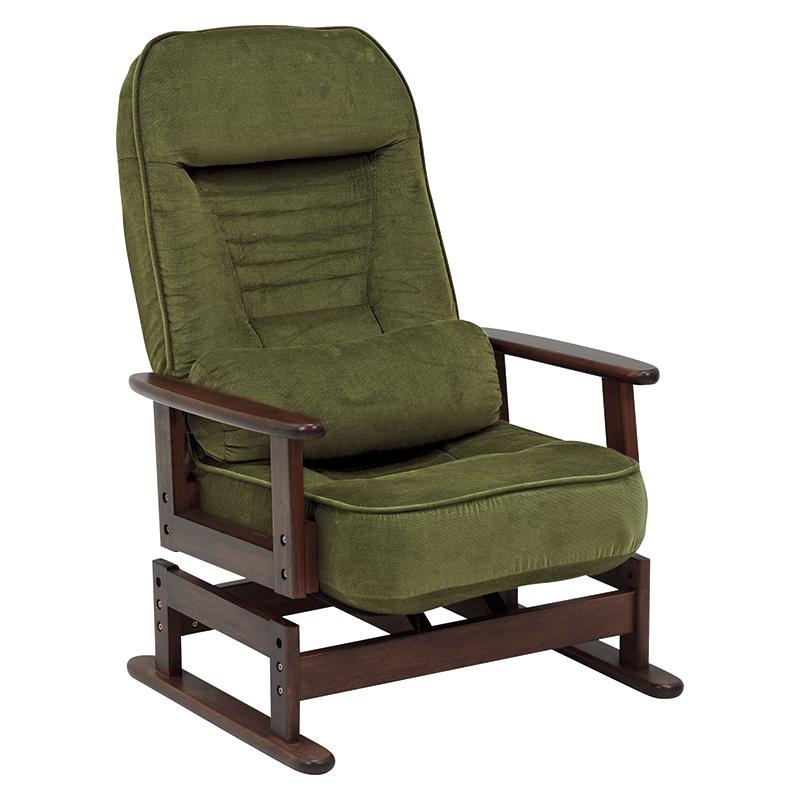 【送料無料】高座椅子 LZ-4742GR (約)幅62×奥行62~99×高さ46~93×座面高35/38cm ■グリーン | 家具 おしゃれ インテリア チェア
