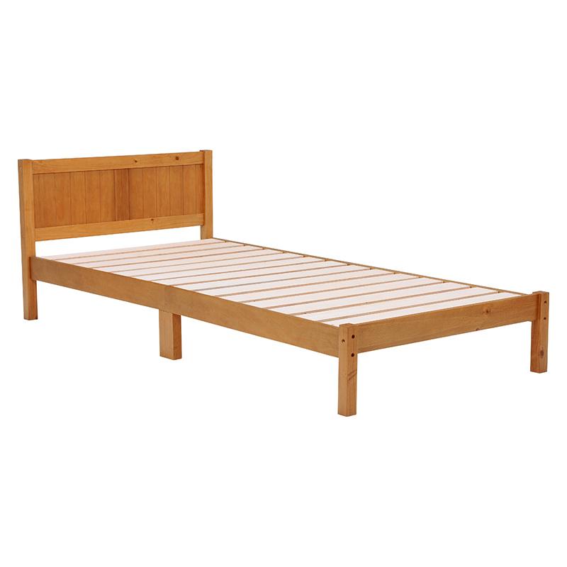 【送料無料】ベッド MB-5105S-LBR (約)幅99.5×奥行206×高さ69×床面高27.5cm ■ライトブラウン | 家具 おしゃれ インテリア 寝具