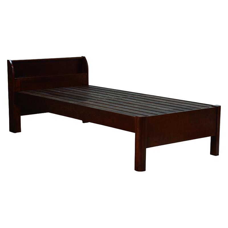 【送料無料】ベッド WB-7701S-DBR (約)幅100×奥行217×高さ79×床面高33/39.5/46cm ■ダークブラウン | 家具 おしゃれ インテリア 寝具