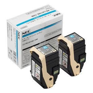 【送料無料】 NEC PR-L9110C-13W 純正トナー シアン 2本パック   NEC トナー 純正 カートリッジ 新品 キャッシュレス 還元