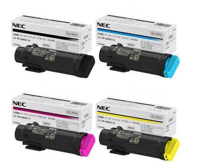 【送料無料】 NEC PR-L5850C-16~19 純正トナー 4色セット【大容量】 | NEC トナー 純正 カートリッジ セット SET 新品 年賀状