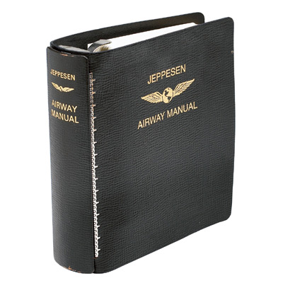 Bonded Leather Binder (for Jeppesen Approach Charts 2 in. Rings)