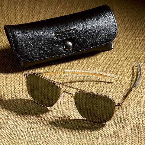 Randolph Aviator Sunglasses (58mm - Gray/Green)