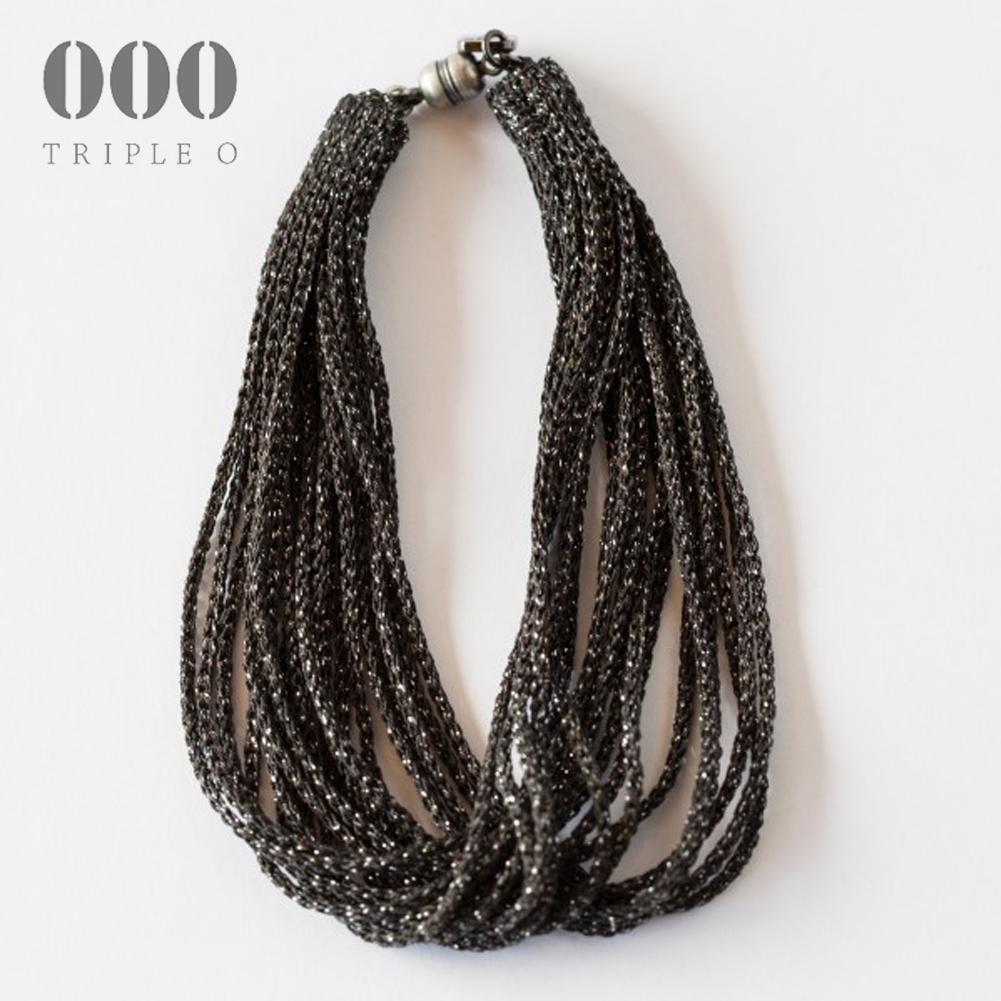 【000/TRIPLE O】ストリーム ラメ ブレスレット(ブラック)STL003