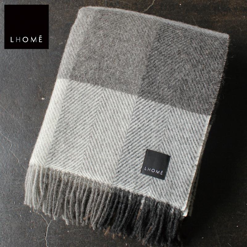 【ロメ/LHOME】ウールブランケット LUCIANO ルチアーノ LH02006