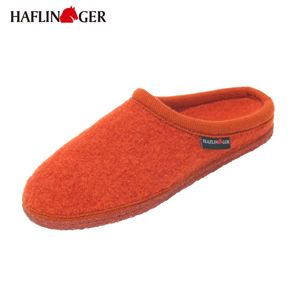 【HAFLINGER】KNUT(クヌート)ウールスリッパ Orange/オレンジ HL61103811
