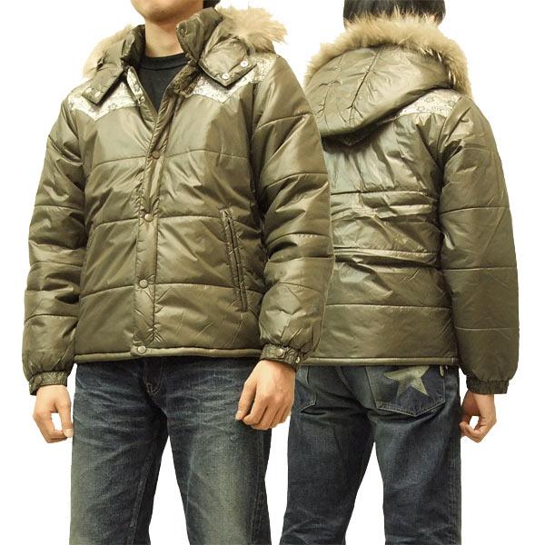 インフィニティ ナイロン中綿ジャケット 和柄 桜柄切替 胤富仁帝 メンズ MG-0901 カーキ 新品