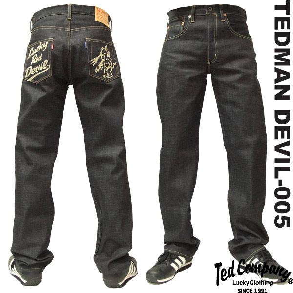テッドマン デニムパンツ tedman エフ商会 メンズ ジーンズ DEVIL-005(伍号) 新品