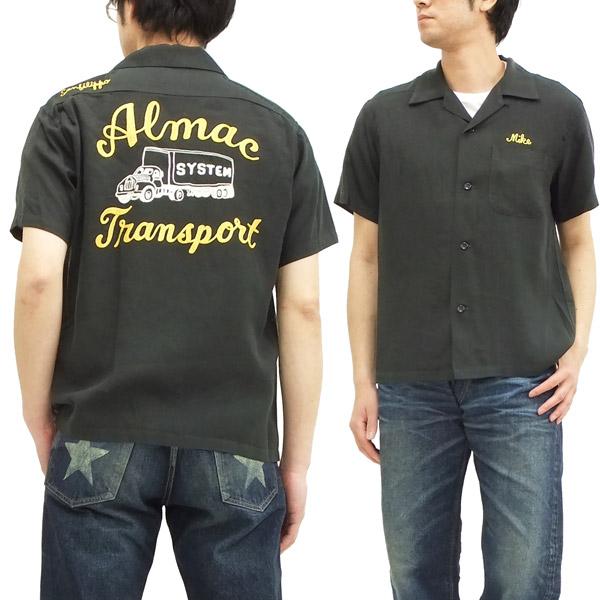 スタイルアイズ ボウリングシャツ 東洋エンタープライズ メンズ 半袖シャツ ボーリングシャツ se36167 黒 新品