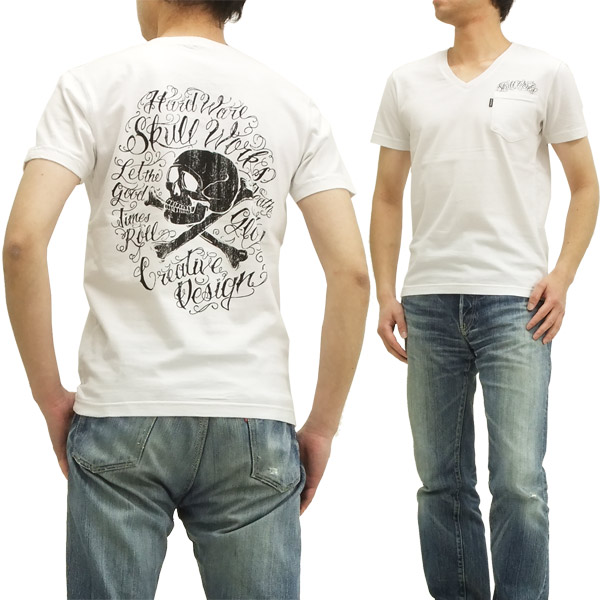 Pine-Avenue Clothes shop: Scull works T-shirt tattoo lettering skull ...
