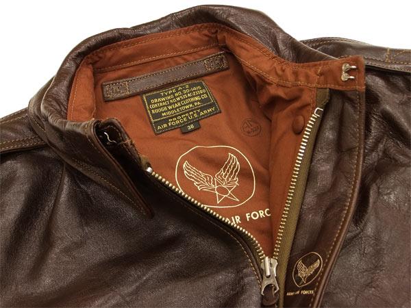 随便バズリクソンズBR80253 A-2皮革飞行员茄克马皮革服装公司复版Buzz Rickson's东洋企业封条棕色新货