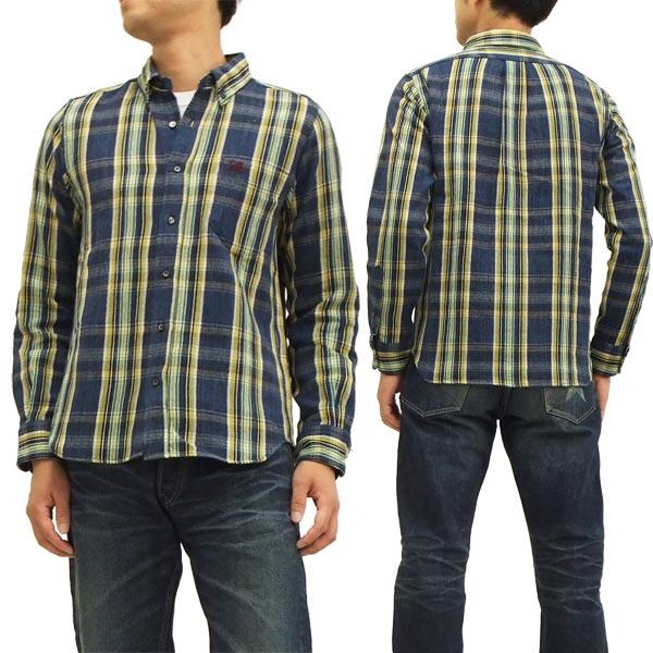 ステュディオ・ダ・ルチザン ネルシャツ 5510 チェック ボタンダウン メンズ 長袖シャツ ネイビー 新品