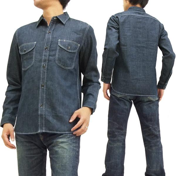 6ff0b3910e0 Lee Denim work shirt LT0501-100 Lee plain men's long-sleeved shirt one wash