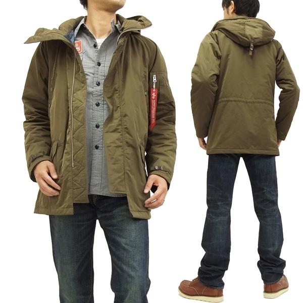 アルファ パーカージャケット TA1058-019 ALPHA メンズ 薄中綿 ショートコート オリーブ 新品
