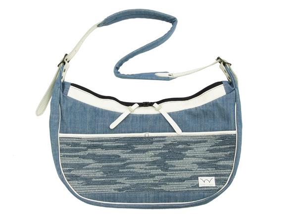 EDWIN GANF バナナショルダーバッグ KMG005-53 エドウィン デニム裂織 頑布 ガンフ メンズ 鞄 ブルー 新品