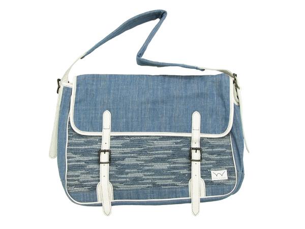 EDWIN GANF ショルダーバッグ KMG004-53 エドウィン デニム裂織 頑布 ガンフ メンズ 鞄 ブルー 新品