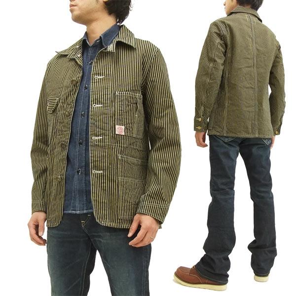 HEADLIGHT Work Coat HD13017 TOYO ENTERPRISE Men's Brown Hickory Jacket brand-new from Japan