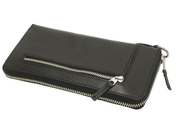 ソルトアンドシュガー レザーロングウォレット 三方ラウンドファスナー メンズ 長財布 サイフ PI-2855 ブラック 新品