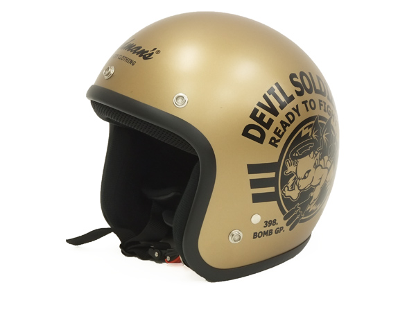 fashion style casual shoes sells TEDMAN Motorcycle Retro Helmet TMH-11 Men's Open Face Helmets Matte Gold  from Japan