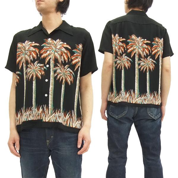 デューク・カハナモク アロハシャツ DK37252 Duke Kahanamoku メンズ 半袖シャツ ブラック 新品