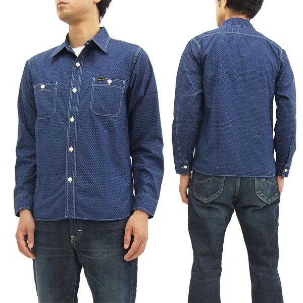 フェローズ ワークシャツ 720WS-W Pherrow's Pherrows メンズ 長袖シャツ インディゴドット 新品