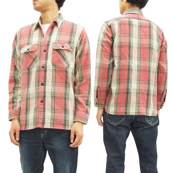 シュガーケーン ワークシャツ SC27118H メンズ チェック ネルシャツ 長袖シャツ #165レッド 新品