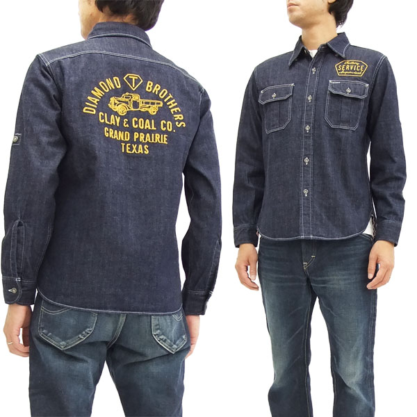 フェローズ デニム ワークシャツ 16W-PWBD1 刺繍カスタム メンズ 長袖シャツ 新品