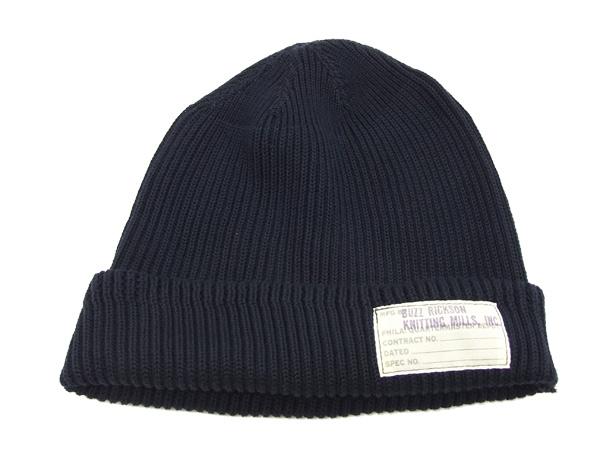 1b90873359b Pine-Avenue Clothes shop  Buzz Rickson s Men s Watch Cap Cotton Knit ...