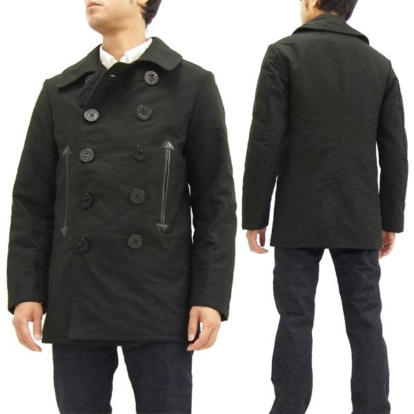 バズリクソンズ BR13656 ピーコート ウィリアム・ギブソン メンズ Pコート ブラック 新品