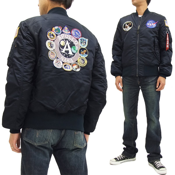huge selection of f1f4d e1e86 Alpha Industries Apollo MA-1 Flight Jacket TA0113 Men's Bomber Jacket  RP.Blue