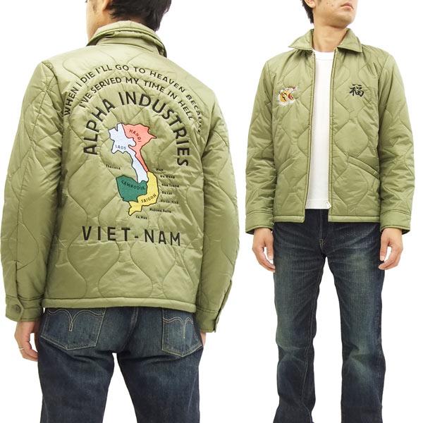 アルファ ベトナムジャケット TA1184-049 ALPHA ベトジャン 開催中 新品 メンズ 5☆好評 オリーブ