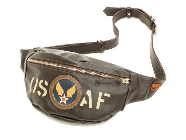 トイズマッコイ デュアルブレードバッグ U.S.A.F. TMA1606 レザーボディバッグ(ウエストバッグ) 新品